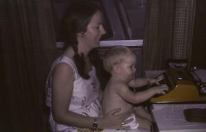 Ruth James 1981 typewriter comp